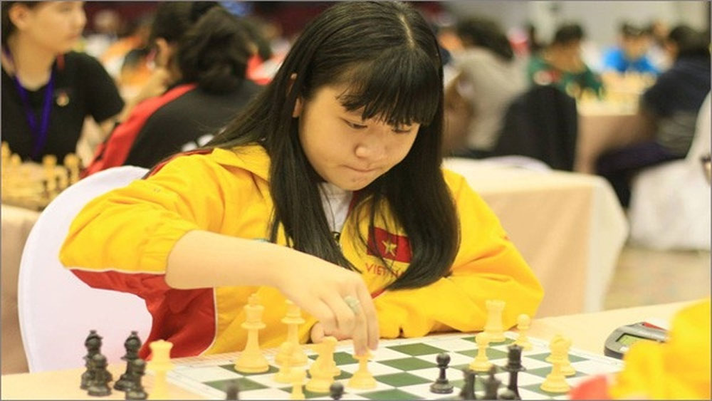 Nguyen Thien Ngan, world U14, rapid chess champion, Vietnamese player, Vietnam's chess prodigy, gold medal