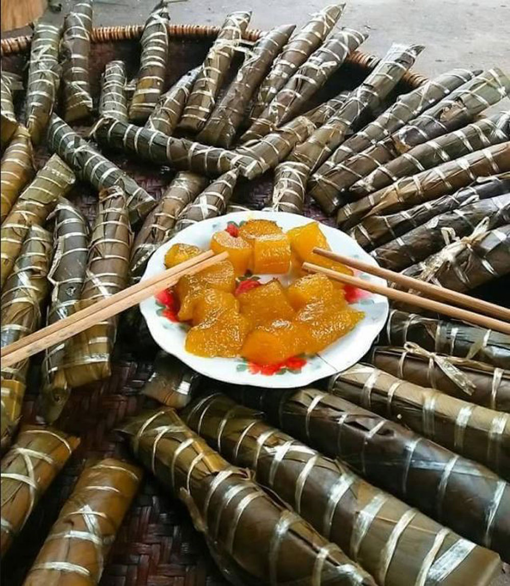 Banh Gio, Rice cake, herbal ash, fragrant ash liquid, glutinous rice,  warm and lovely village