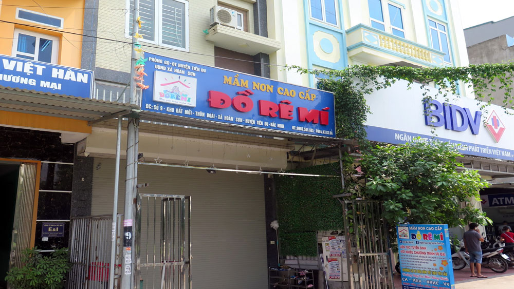 Bắc Ninh, tạm đình chỉ, Cơ sở Mầm non tư thục Đồ Rê Mí, bỏ quên, cháu bé 3 tuổi, xe ô tô đưa đón, Nguyễn Tấn Lợi