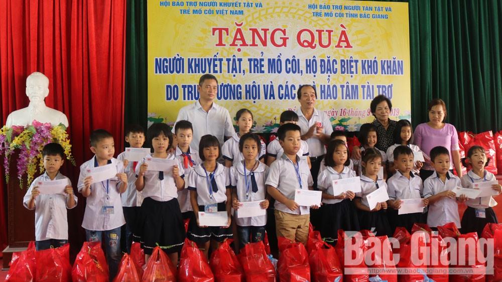 người khuyết tật, trẻ mồ côi, trẻ em, Yên Dũng, Bắc Giang.