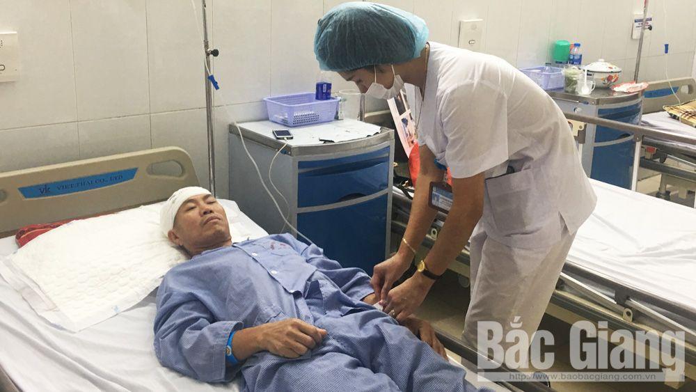 chiếc đinh, găm vào xương sọ, bệnh viện, bắc giang
