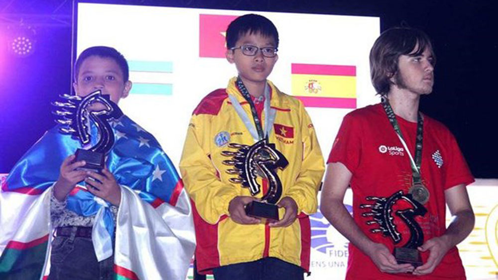 Vietnam, first place, World Rapid & Blitz Chess Championships, medal tally, Nguyen Thien Ngan, age groups
