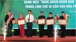 Thai Nguyen honours outstanding artisans of intangible cultural heritages