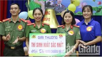 Công an tỉnh Bắc Giang: 50 thí sinh tham gia hội thi 'Rung chuông vàng'
