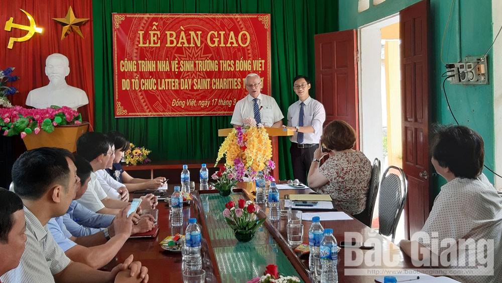 nhà vệ sinh, trường học, khánh thành, Đồng Việt, Yên Dũng, Bắc Giang.