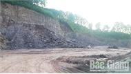 Yên Dũng xử lý nghiêm cá nhân khai thác đất san lấp mặt bằng sai giấy phép