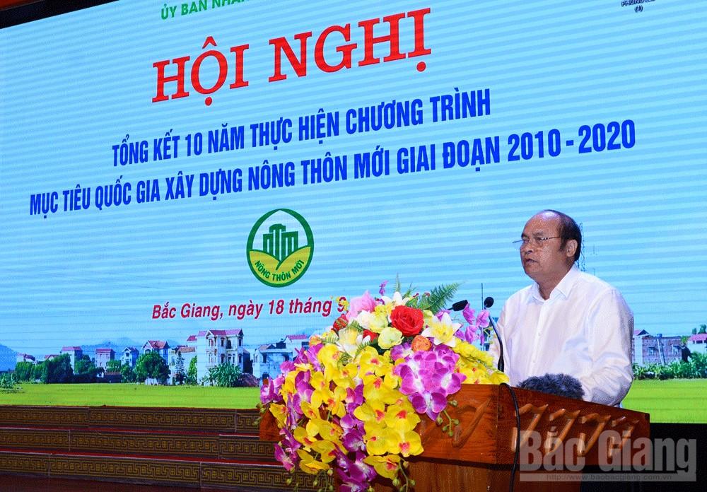 Tổng kết 10 năm xây dựng nông thôn mới, nông thôn mới, Bắc Giang, Chủ tịch UBND tỉnh Nguyễn Văn Linh