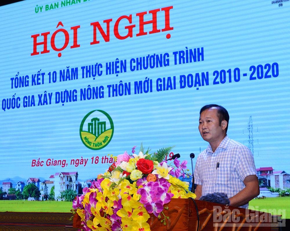 nông thôn mới, Bắc Giang, tổng kết 10 năm, tham luận