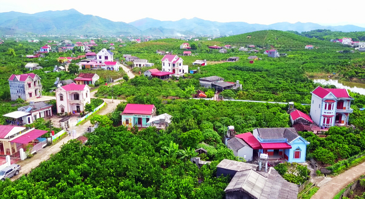 Dramatic changes, Bac  Giang province, homeland, new style rural area, cultural house, center area, livable hometowns