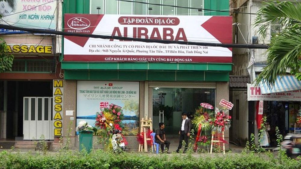 Công an, khám xét, hai văn phòng của địa ốc Alibaba tại Đồng Nai
