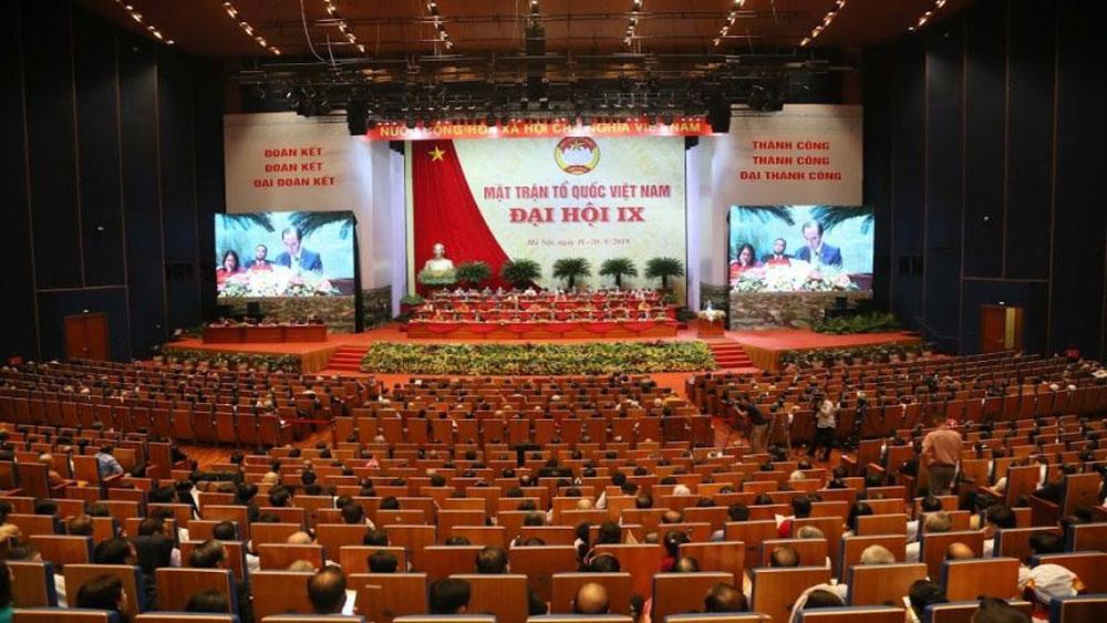 Hôm nay, khai mạc, Đại hội Mặt trận Tổ quốc Việt Nam lần thứ IX