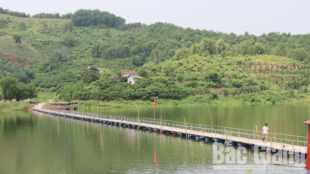 Sơn Hải, Lục Ngạn, Bắc Giang, cây cầu hạnh phúc, hồ Cấm Sơn, cầu phao