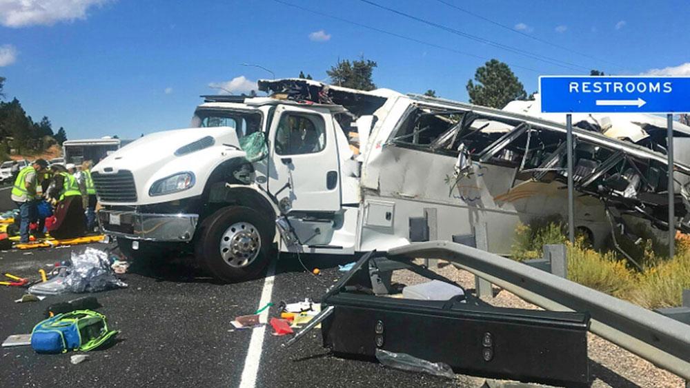 Tai nạn, xe chở khách du lịch tại Mỹ, công viên quốc gia Bryce Canyon, hạt Garfield