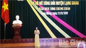 Thi cán bộ nữ công giỏi huyện Lạng Giang