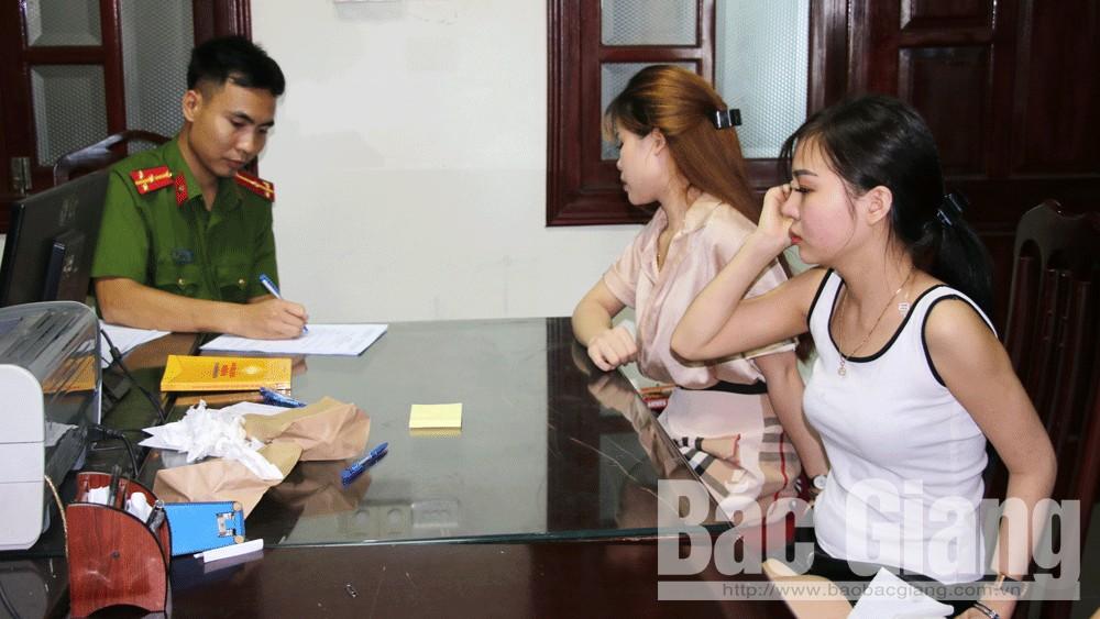 Công an Bắc Giang, ma túy, karaoke KTV, Sử dụng ma túy tại quán karaoke, Karaoke Royal KTV, Việt Yên, Bắc Giang
