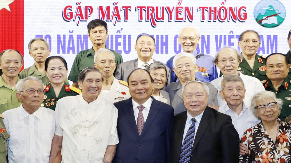 Thủ tướng, dự gặp mặt, Kỷ niệm, 70 năm thành lập, Trường Thiếu sinh quân Việt Nam