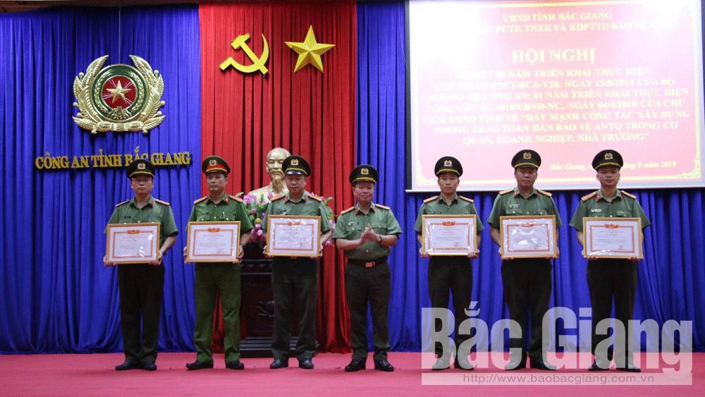 Chỉ thị 07/CT-BCA, phong trào, toàn dân bảo vệ ANTQ, Bắc Giang