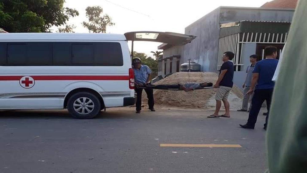 Quảng Ninh, Xe trộn bê tông, làm đứt dây điện cao thế, hai công nhân bị bỏng, Công ty TNHH Đầu tư Xây dựng Phương Dung,