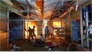 Cháy chợ Tó, hàng chục gian hàng bị thiêu rụi