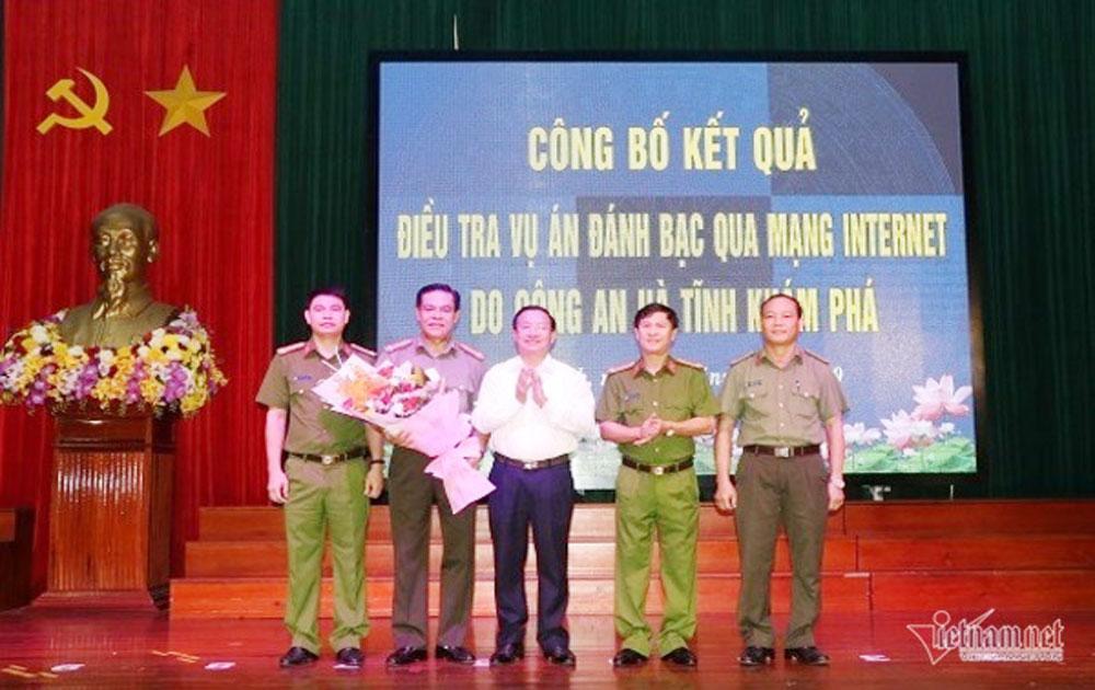 Hà Tĩnh, Phá hai đường dây, cá độ bóng đá qua mạng, số tiền hàng nghìn tỷ đồng,  G18 , RQ22, Lê Cảnh Bảo