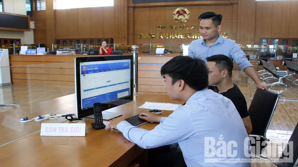 Bac Giang province, online public services, high levels, fee exemption, Online applications, administrative procedures