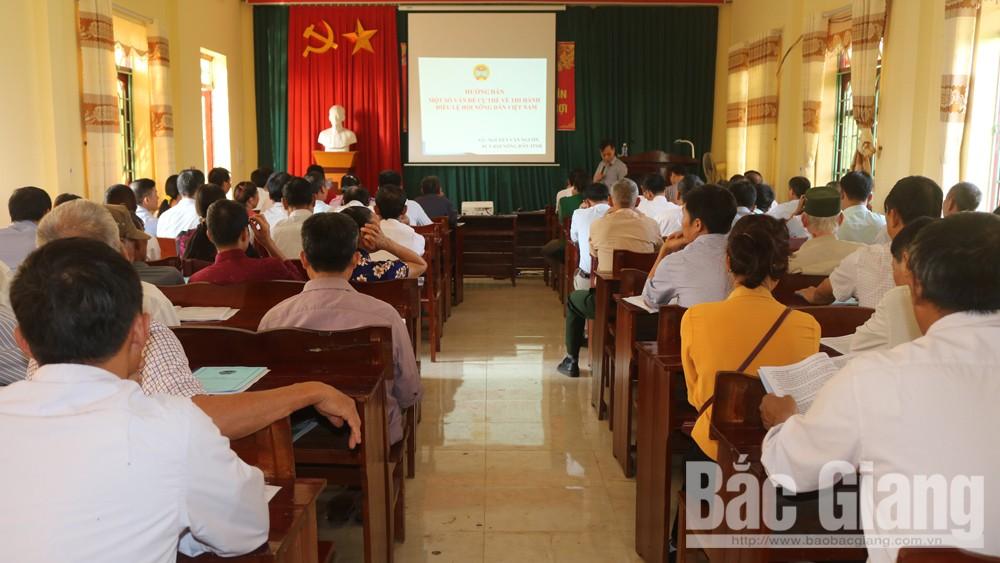 Tập huấn nghiệp vụ cho cán bộ Hội Nông dân cơ sở