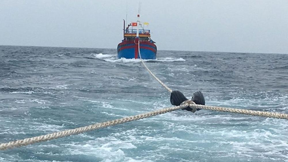 Cứu nạn thành công, tàu cá, bảy ngư dân gặp nạn trên biển,  tàu cá NA 99978TS