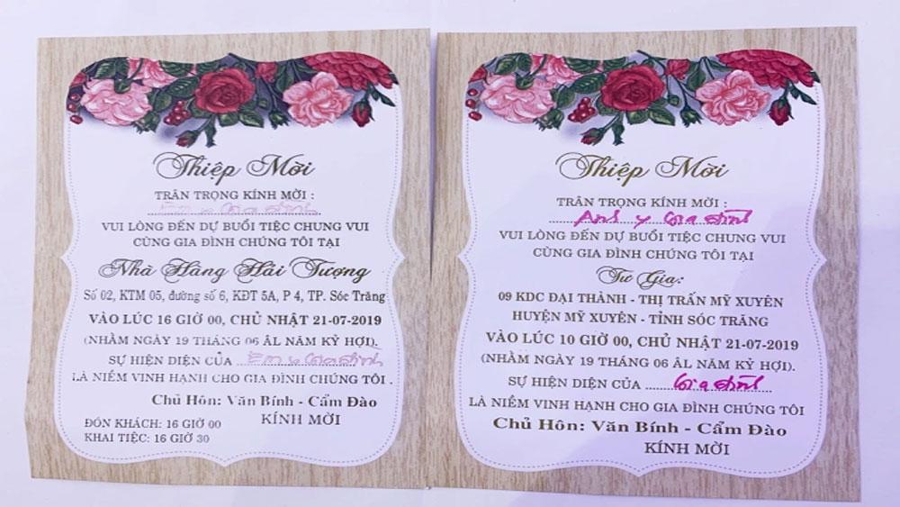 Trưởng đoàn ĐBQH Sóc Trăng, rút kinh nghiệm sâu sắc, tổ chức đám cưới cho con