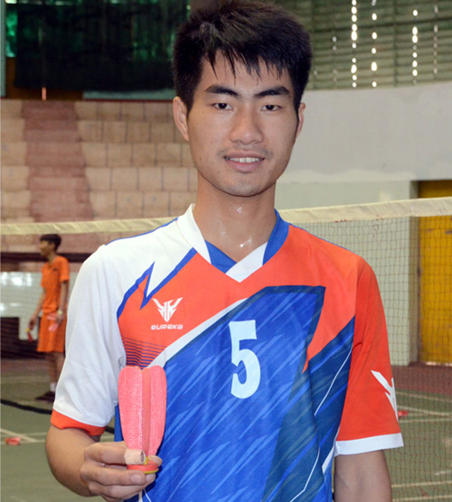 Bac Giang athletes, Bac Giang province, gold medal, national shuttlecock team championship, men's team category, young faces