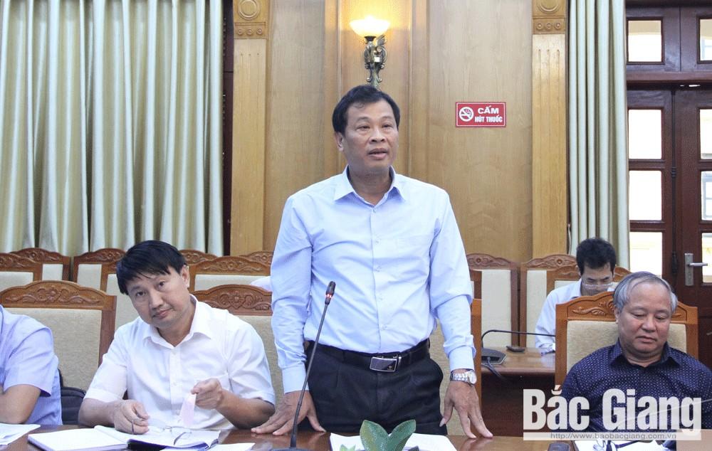 Giao ban, tháng 9, Chủ tịch tỉnh, giải phóng mặt bằng, Bắc Giang, Nguyễn Văn Linh