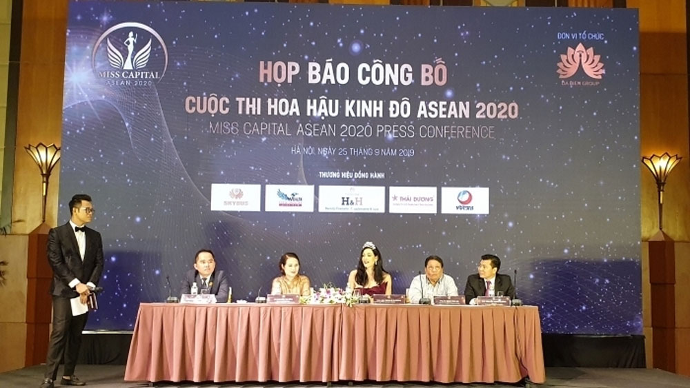 Miss ASEAN Capital 2020 contest,  final round, Trang An landscape complex, Ninh Binh province,  National Tourism Year 2020