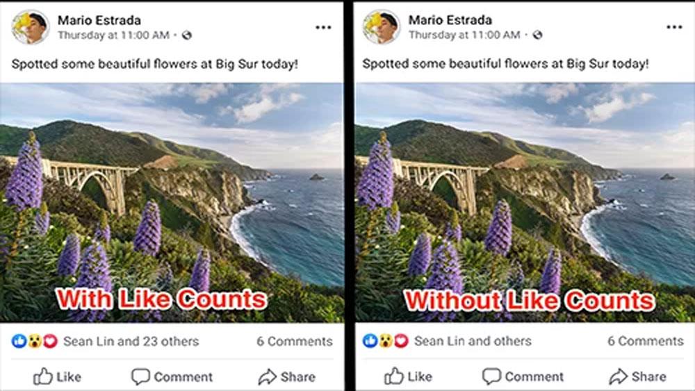 Facebook, bắt đầu, thử nghiệm, ẩn số lượt Like