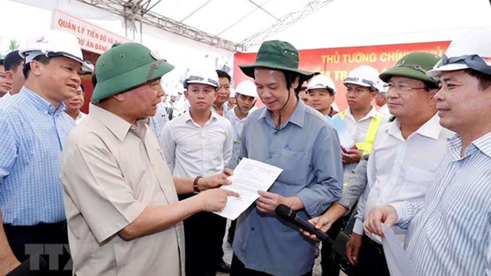 PM, Trung Luong–My Thuan expressway, Kien Giang province, construction progress,  good quality, State budget