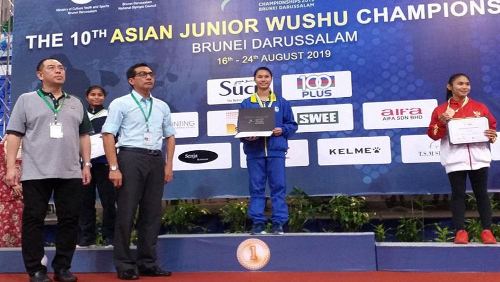 Golden wushu artist, Nguyen Thi Lan, Bac Giang province, martial art, National Wushu Championship, hard training