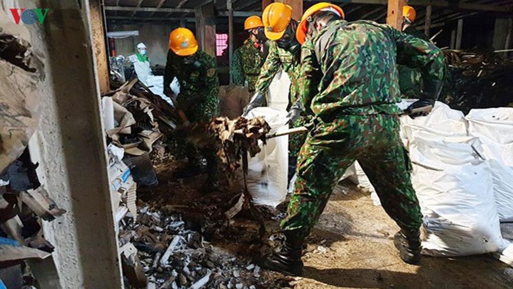vệ sinh, tẩy độc, 3.000m2 mặt sàn nhà kho, Công ty Rạng Đông