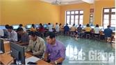 Tân Yên kiểm tra kỹ năng tin học văn phòng đối với 500 cán bộ, công chức cấp xã