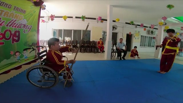 Abandoned disabled boy finds solace in martial arts