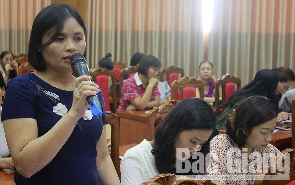 tiếp xúc cử tri là cán bộ, hội viên phụ nữ, Đoàn Đại biểu quốc hội tỉnh, phòng tránh xâm hại tình dục phụ nữ, trẻ em
