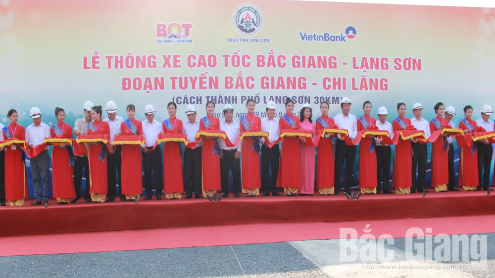 Bac Giang - Lang Son expressway, open to traffic, Bac Giang province, Lang Son province, BOT, 4- lane expressway