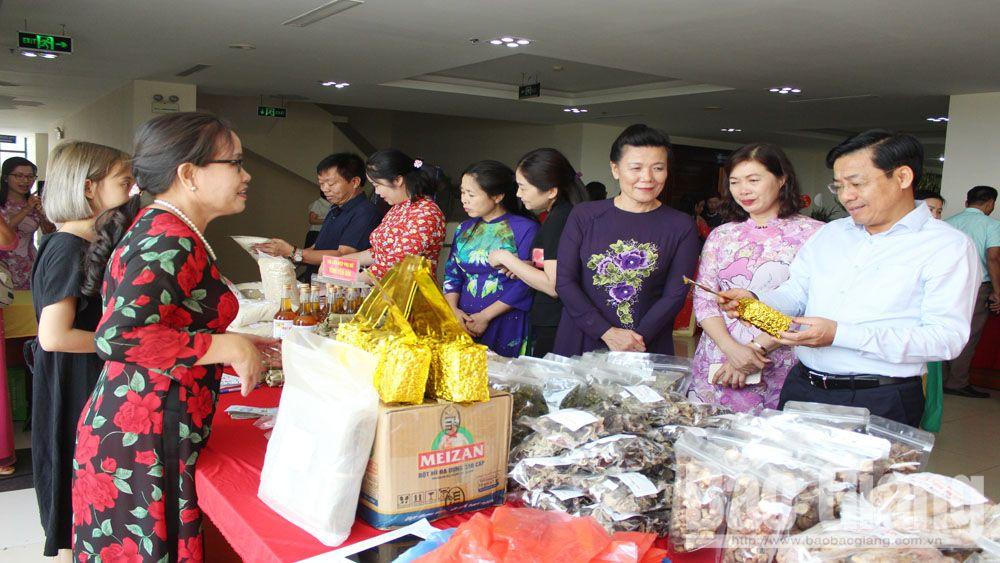 LHPN Bắc Giang,  Ngày hội,  phụ nữ , sáng tạo khỏi nghiệp