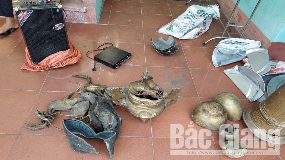 trộm cắp tài sản; chùa; Lục Nam; nghiện ma túy