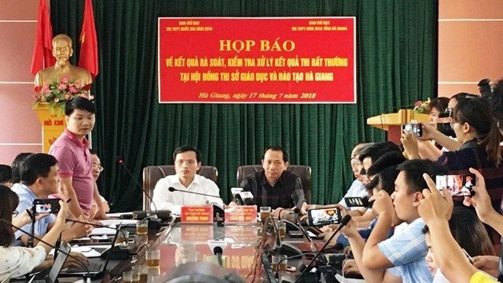 Kết quả xử lý sai phạm ở kỳ thi THPT quốc gia 2018 tại Hà Giang
