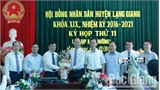 Đồng chí Đặng Đình Hoan được bầu giữ chức Chủ tịch UBND huyện Lạng Giang