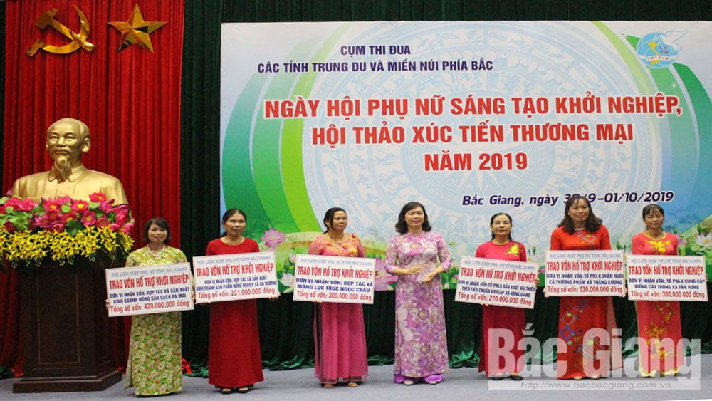 Bac Giang province, Women's Union, creative startup festival, trade promotion conference,  product consumption, Northern midland and mountainous provinces