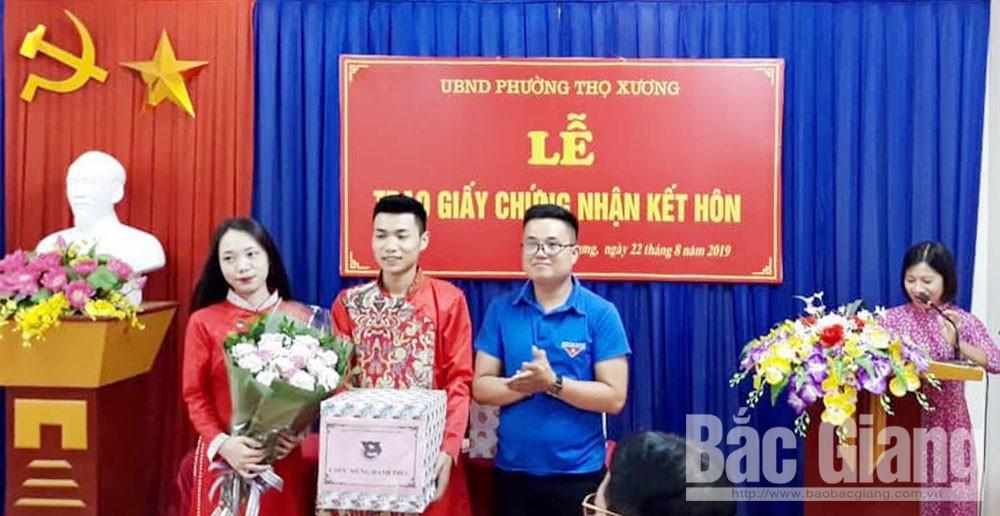 Bắc Giang, cưới văn minh, an toàn, hạn chế rượu bia, đám cưới, an toàn, tiết kiệm