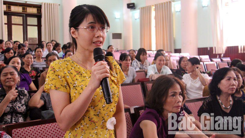 Việt yên, đối thoại, cấp ủy, phụ nữ