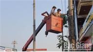 TP Bắc Giang tổ chức bó gọn dây dẫn và cáp viễn thông