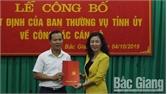 Công bố quyết định của BTV Tỉnh ủy Bắc Giang chuẩn y kết quả bầu đồng chí Mai Sơn giữ chức Bí thư Thành ủy Bắc Giang