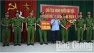 Khen thưởng Công an huyện Tân Yên (Bắc Giang) về thành tích bắt giữ đối tượng tàng trữ ma túy