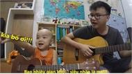 Hai bố con vừa đàn vừa hát cực hay